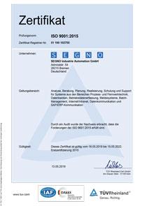 Zertifikat Qualitätsmanagement - Deutsch
